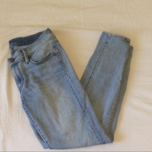 Anne Taylor LOFT skinny jeans with ankle zips